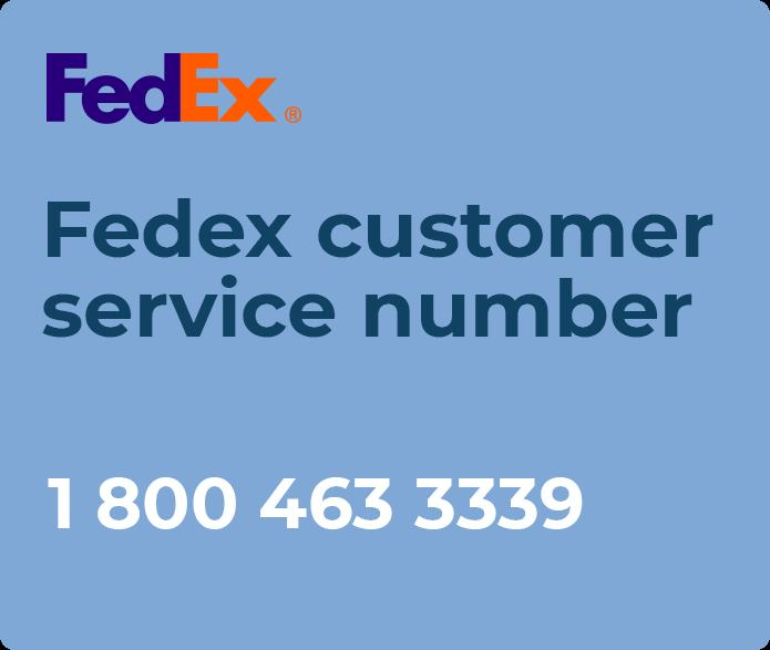fedex customer service number