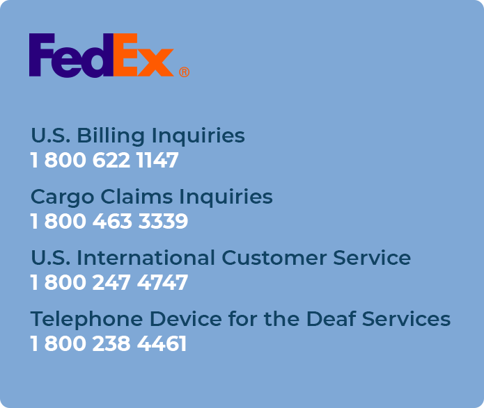 fedex customer support phone number