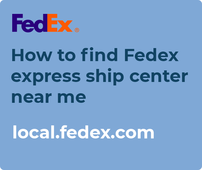 fedex express ship center