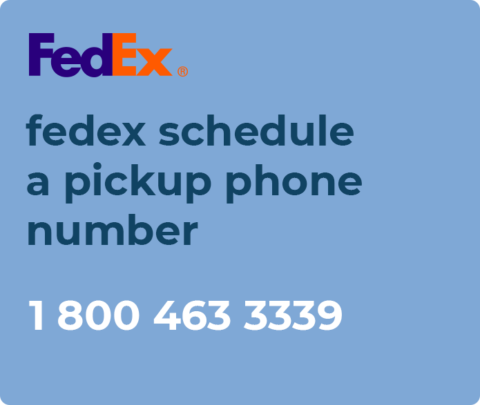 fedex schedule a pickup phone number