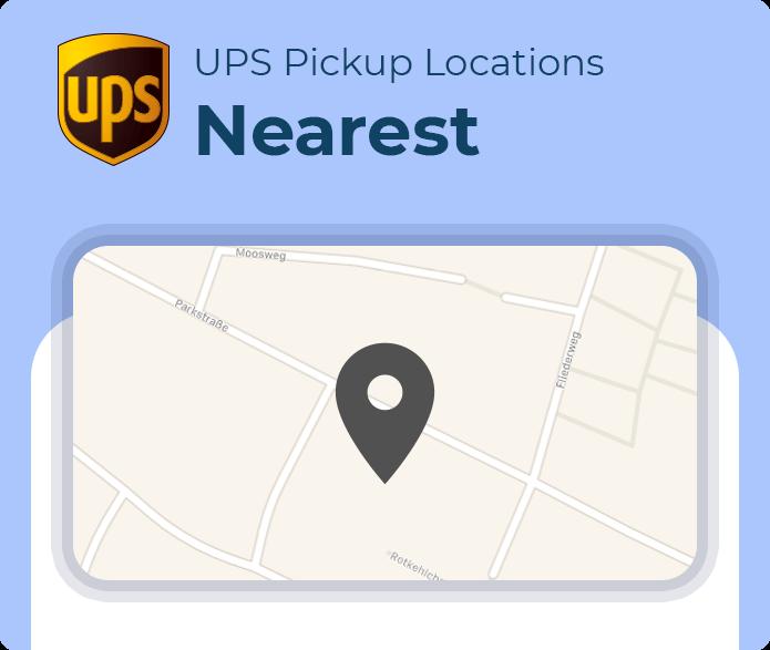 nearest ups pickup location