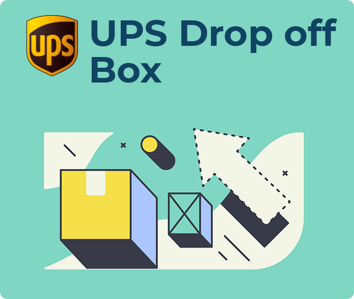 ups drop off box
