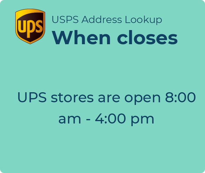 what time does the ups store close