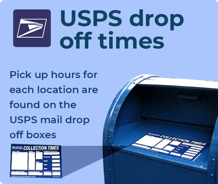 usps drop off times